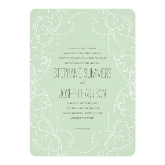 Vintage Lace Wedding Invitation // Eton Blue