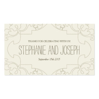 Vintage Lace Wedding Invitations // Cream Pack Of Standard Business Cards