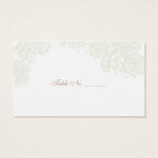 Vintage Lace Wedding Place Cards 100 pk