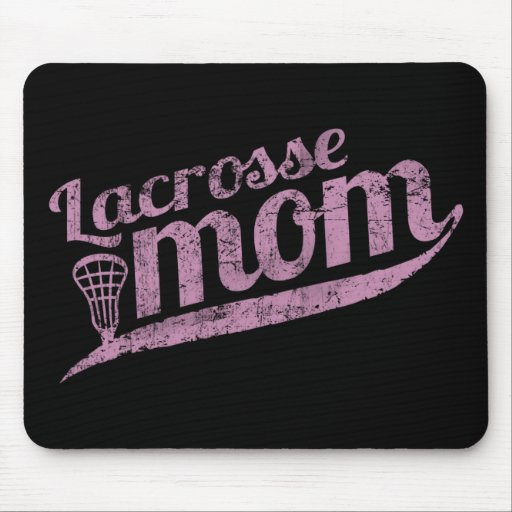 Vintage Lacrosse Mom Mouse Pads