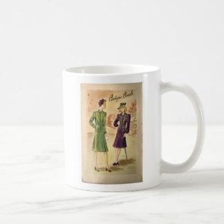 Vintage Ladies Classic White Mug