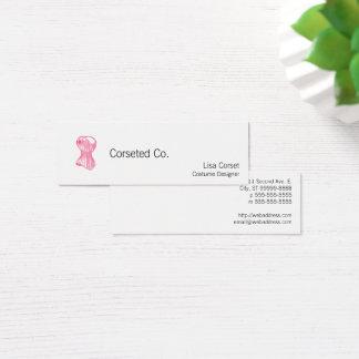 Vintage Ladies Corset Mini Business Card