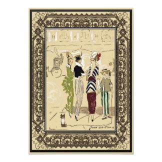 Vintage Ladies Home Party Business 13 Cm X 18 Cm Invitation Card