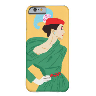 Vintage Lady Barely There iPhone 6 Case