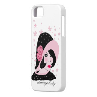 vintage lady iPhone 5 cover