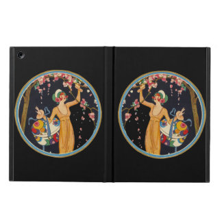 Vintage Lady Cherry Blossom Tree Hat Box Cover For iPad Air