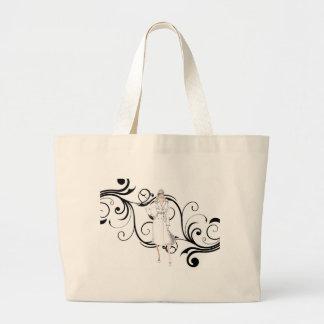 Vintage Lady Hangbag Jumbo Tote Bag
