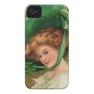 Vintage Lady In Green iPhone 4 Cover