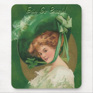 Vintage Lady in Green Mousepad