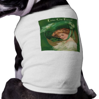 Vintage Lady in Green Pet Clothing