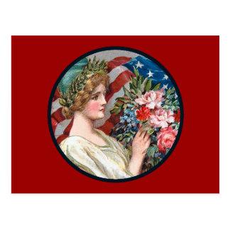 Vintage Lady Liberty_Postcard Postcard