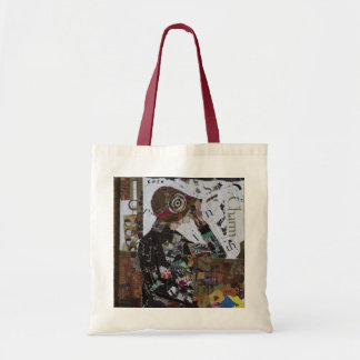 Vintage Lady Looking Ahead to Breaking Boundaries Tote Bag
