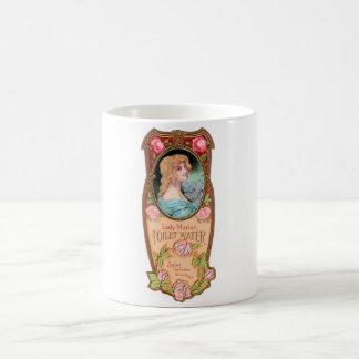 Vintage Lady Marian Toilet Water Label Coffee Mugs
