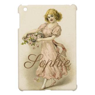 Vintage Lady Personnalised iPad Mini Cover