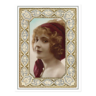 VIntage Lady Pretty Framed Postcards
