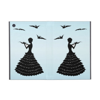 Vintage Lady Silhouette Love Letter Doves Cover For iPad Mini
