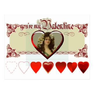 Vintage Lady Valentine Post Card