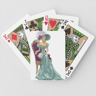 vintage ladys bicycle playing cards