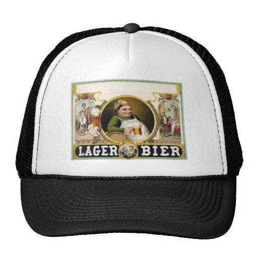 Vintage Lager Beer Advertisement Trucker Hat