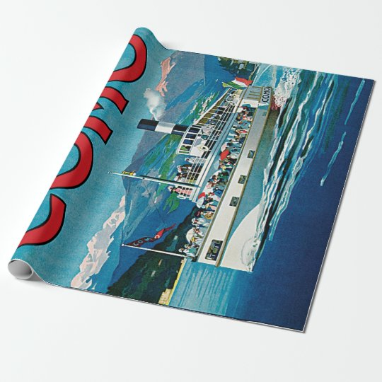 Vintage Lago di Como Travel Wrapping Paper