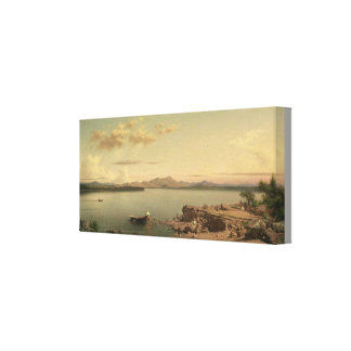 Vintage Lake George by Martin Johnson Heade Canvas Print
