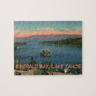 Vintage Lake Tahoe Emerald Bay Jigsaw Puzzle