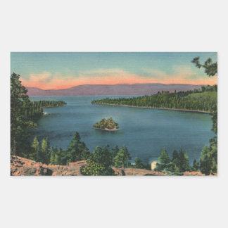 Vintage Lake Tahoe Emerald Bay Rectangular Sticker
