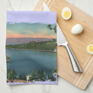 Vintage Lake Tahoe Emerald Bay Tea Towel