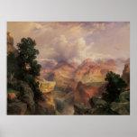 Vintage Landscape, Grand Canyon by Thomas Moran Poster
