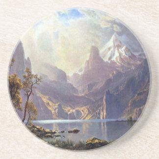Vintage Landscape, Lake Tahoe by Albert Bierstadt Coasters