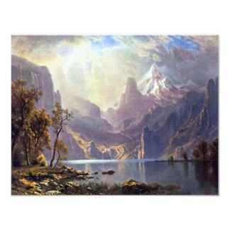 Vintage Landscape, Lake Tahoe by Albert Bierstadt 11 Cm X 14 Cm Invitation Card