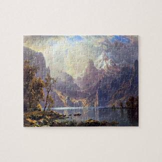 Vintage Landscape, Lake Tahoe by Albert Bierstadt Jigsaw Puzzle