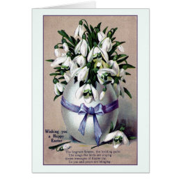 Easter poem gifts on zazzle au vintage large easter egg vase and lilies poem card negle Images