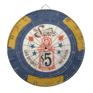 Vintage Las Vegas Casino Poker Chip Game Dartboard