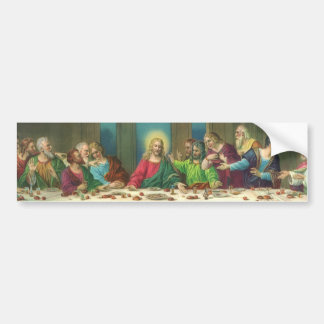 Vintage Last Supper with Jesus Christ and Apostles Bumper Stickers