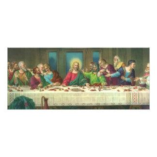 Vintage Last Supper with Jesus Christ and Apostles Custom Invitations