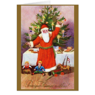 Vintage Latvian Christmas Greeting Card