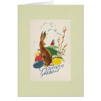 Vintage Latvian Priecīgus Svētkus Easter Card