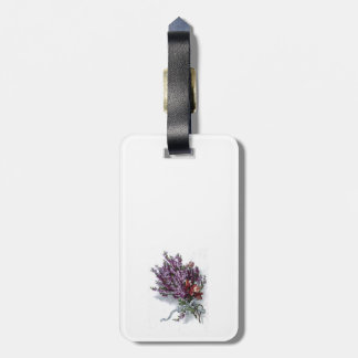 Vintage Lavender Bouquet Luggage Tag
