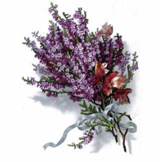 Vintage Lavender Bouquet Photo Sculpture Magnet