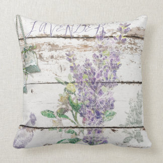 "Vintage Lavender Cotton Throw Pillow 20"" x 20"""