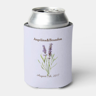 Vintage Lavender for weddings Can Cooler