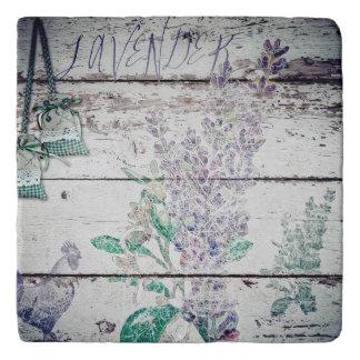 Vintage Lavender Marble Stone Trivet