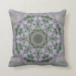 Vintage Lavender Vine Mandala Throw Pillow