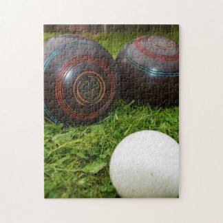 Vintage Lawn Bowls And Kitty, Jigsaw Puzzle