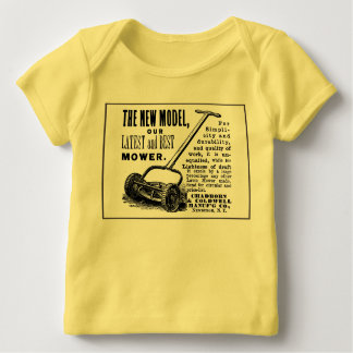 Vintage lawn mower advert baby T-Shirt