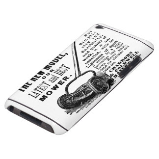 Vintage lawn mower advert barely there iPod case