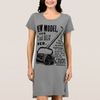 Vintage lawn mower advert dress