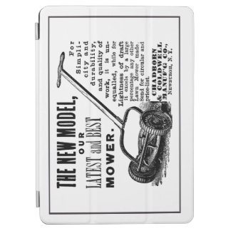 Vintage lawn mower advert iPad air cover