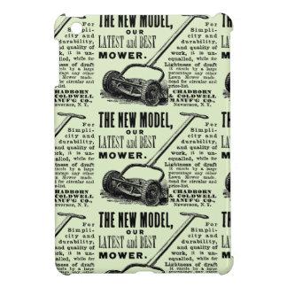 Vintage lawn mower advert iPad mini cover